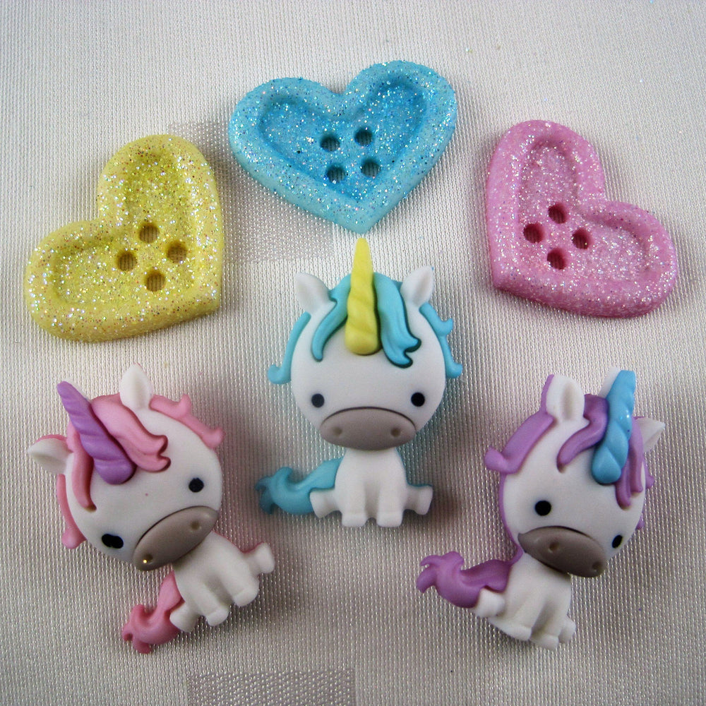 Unicorn Love Button Pack