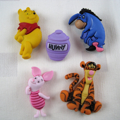 Winnie The Poo Buttons
