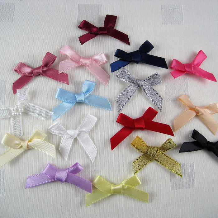 Small tied satin bows