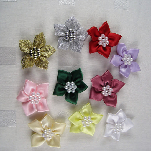 Star Bows with Pearl Ring.