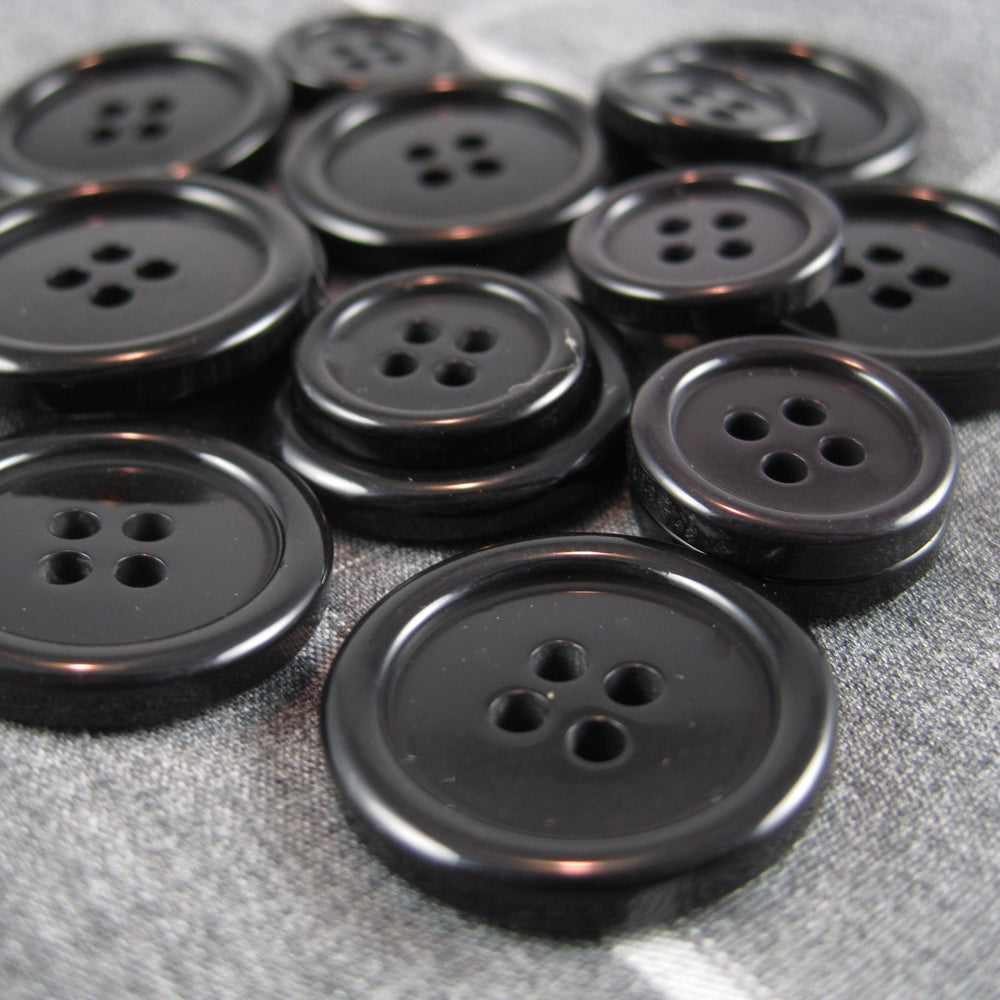 Mens Black Coat Buttons