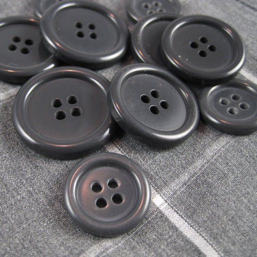 Mens Grey Coat Buttons