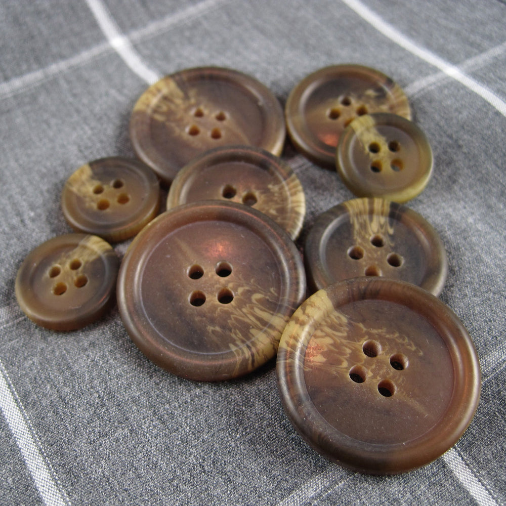 Mens Brown Coat Buttons