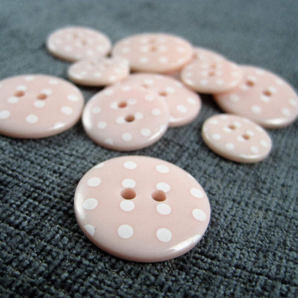 Pink Spotted Button
