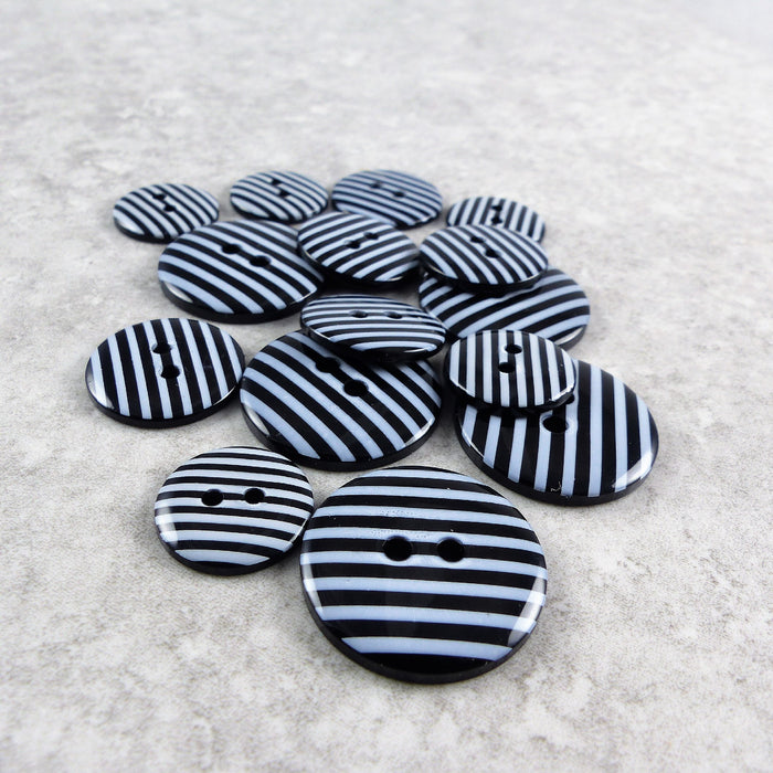 Black Striped Buttons
