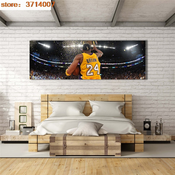 paintings by numbers Canvas Art Pictures Basketball superstar Kobe Bryant Lakers championship Wall Art Canvas Poster Home Decor