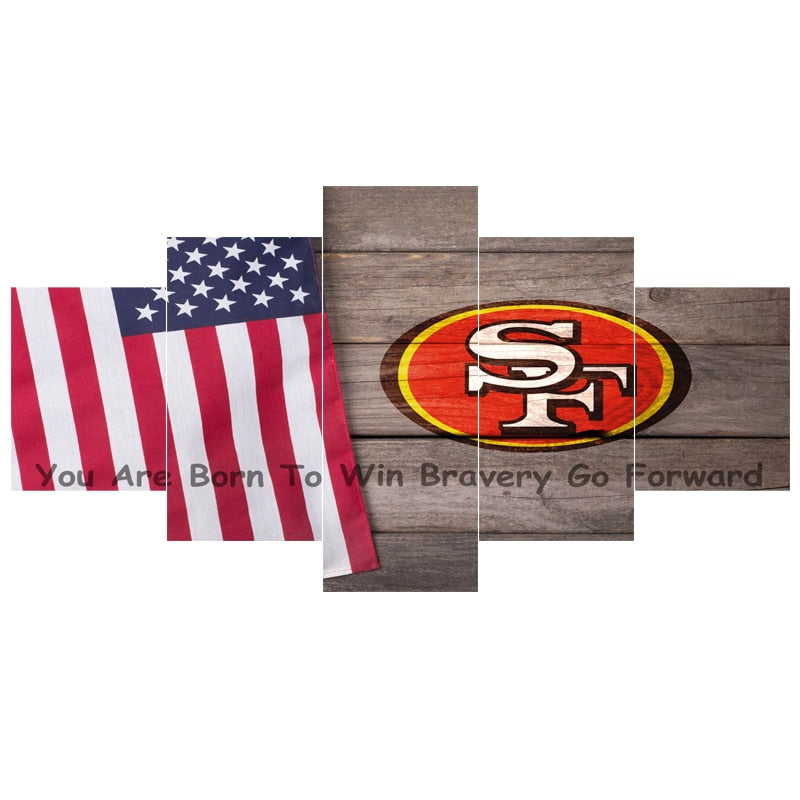 San Francisco Ball Team 49ers Flag Paintings For Bedroom Wall Art Home Decor Picture Canvas Painting Calligraphy For Living Room