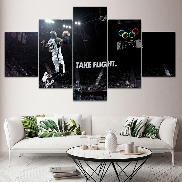 Kobe Bryant Poster Modular Canvas Decorativos Painting HD Prints Basketball Boys Room 5 Piece Canvas Art Pictures Pop Wall Decor