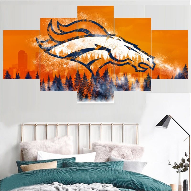 Football Team Denver Broncos Paintings For Bedroom Wall Art Home Decor Picture Canvas Painting Calligraphy For Living Room