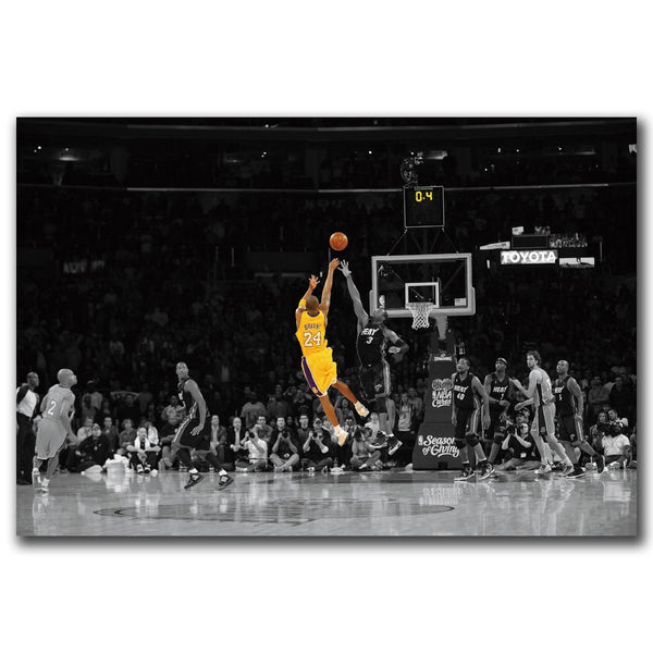 paintings by numbers Posters and Prints Kobe Bryant Basketball LeBron James Hot 18 24x36in Art Poster Canvas Painting Home Decor