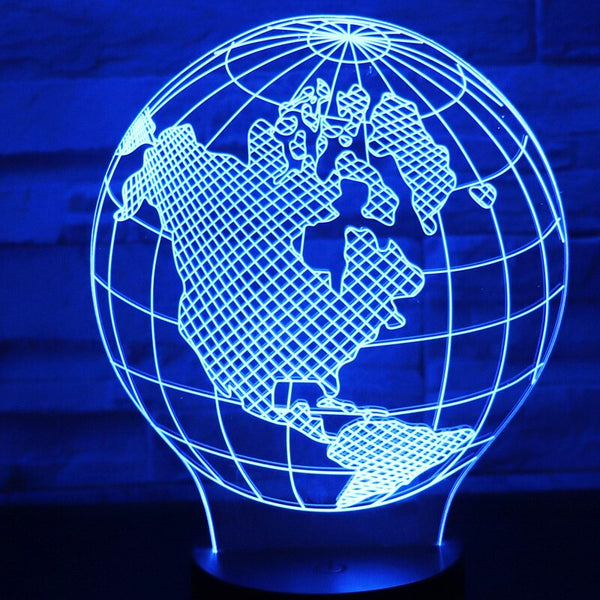 7 Color Changing USB For Home Bedroom Decoration Globe Model Table Lamp 3D LED Night Lights Bedside Sleep Light Fixture Gifts