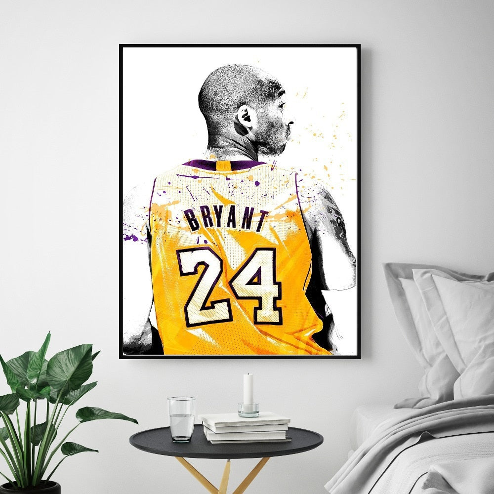 Kobe Bryant Poster Basketball Modern Simple Living Room Decoration Painting Basketball Player Hotel Apartment Canvas Wall Art