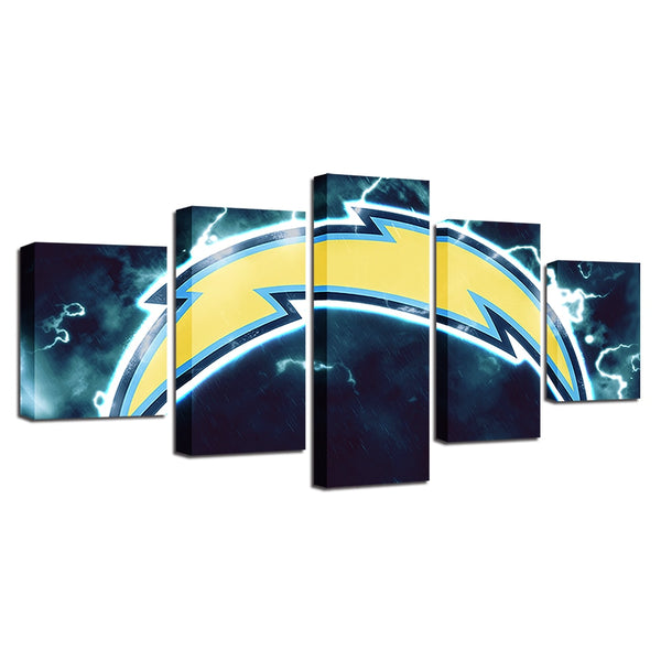 Poster Canvas House Vintage 5 Pcs American Football Wall Pop Art Modular Cuadros Pictures Painting Prints Home Decor Restaurant