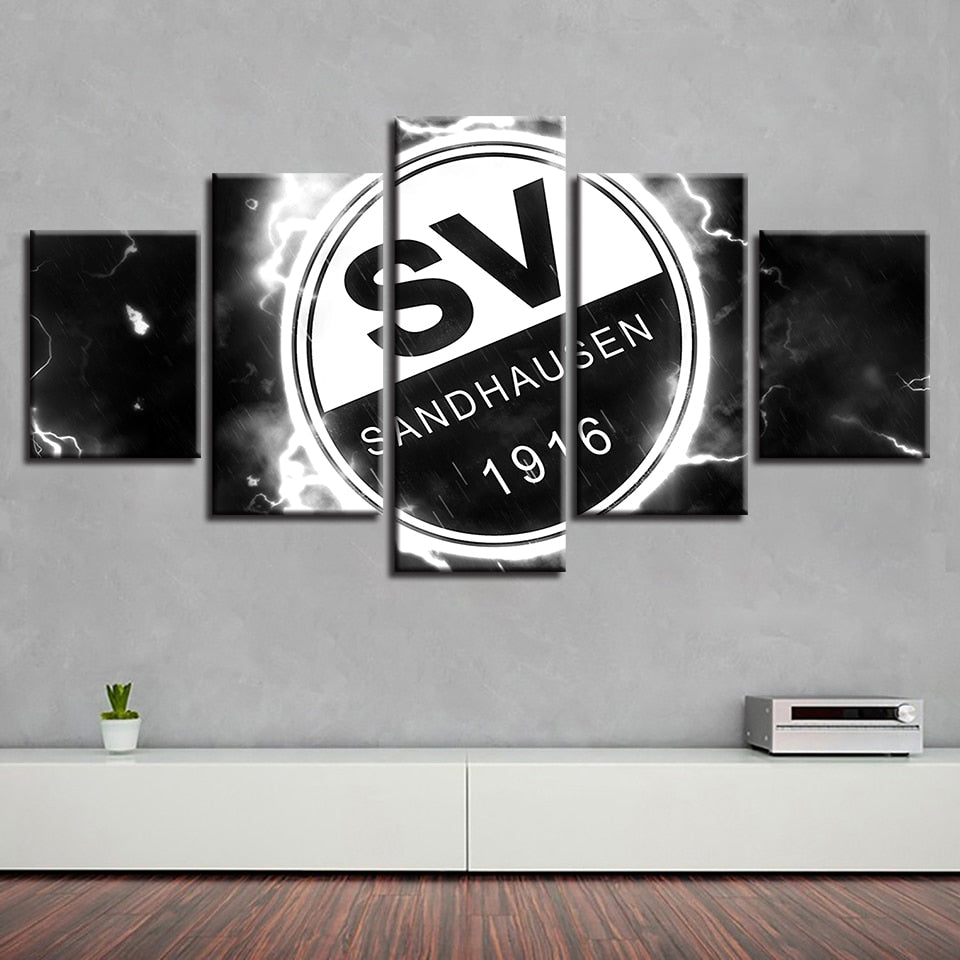 Prints Wall Art Modular Hot Sale Hallway 5 Pcs Football Club Sport Canvas House Painting Home Decor Pictures Kitchen Poster