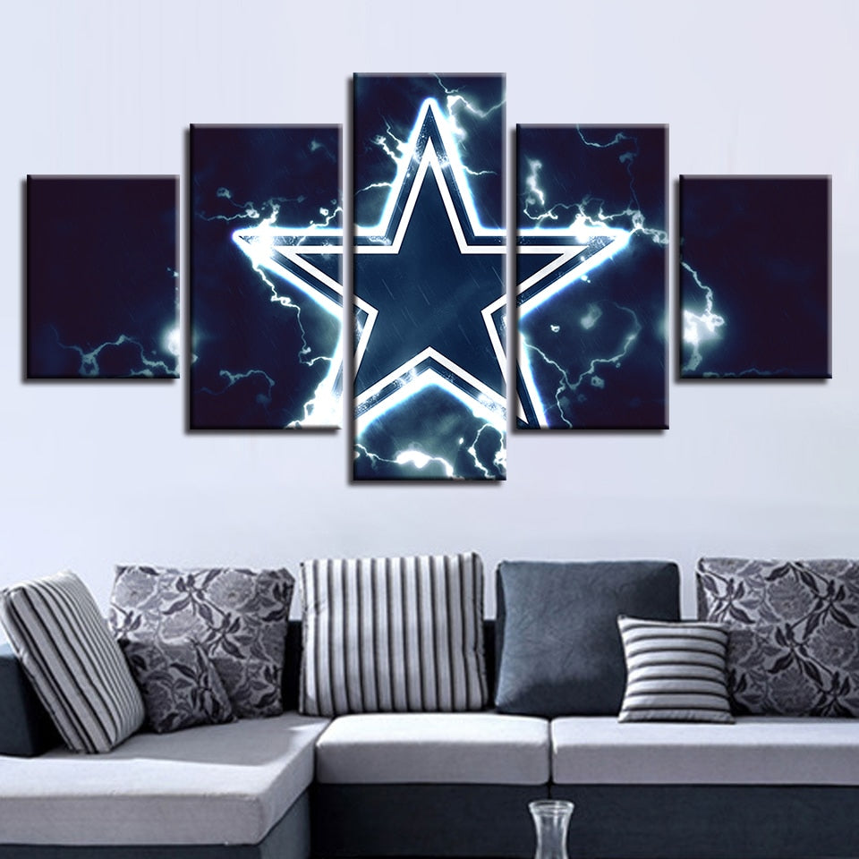 Painting Prints Poster 5 Pcs American Football Wall Pop Art Modular Cuadros Sport Pictures Canvas House Home Decor Restaurant