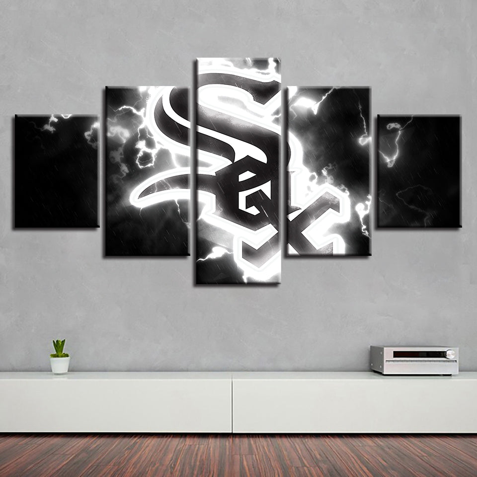 Painting Prints Wall Art Brand New Modern Modular Home Spray House 5 Pcs Baseball Sport Canvas Decor Pictures Corridor Poster