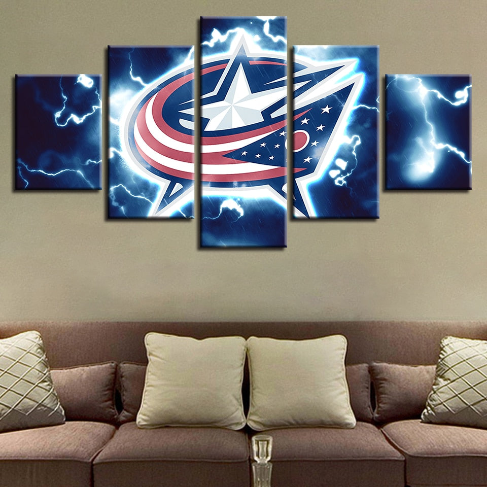 House Spray Painting Prints 5 Pieces Hockey League Canvas Sport Brand New Wall Art Modular Pictures Poster Office Decor Home