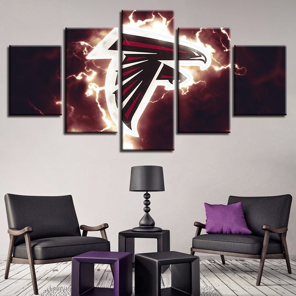 Hot Sale Fashion Frame 5 Set American Football Sport Printed Home Decoration Canvas Painting Wall Art Modular Pictures Poster