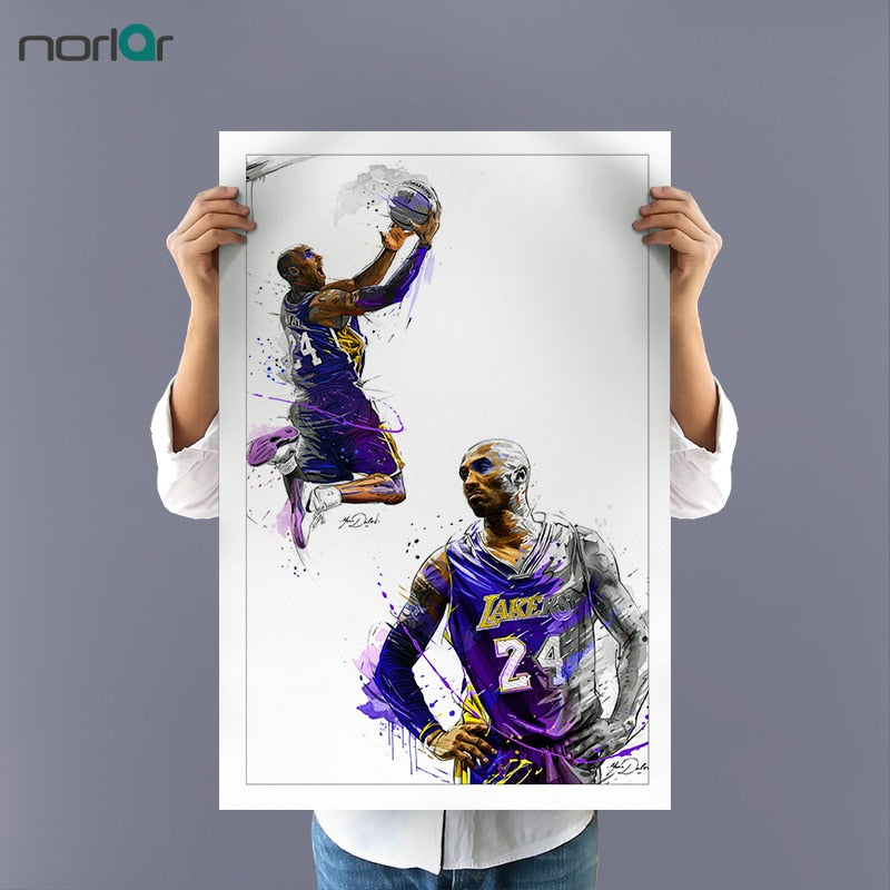 Canvas Painting the legend Kobe Bryant Dunks Wall Art Basketball Star Prints Poster Sports Pictures Wall Decor