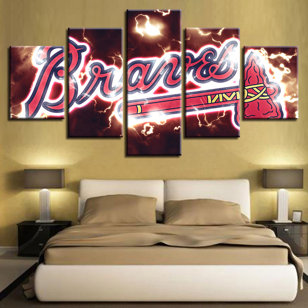 Canvas Wall Art Spray Modern Painting HD Prints Home Decor 5 Pieces Baseball Sport American Modular Pictures Poster House