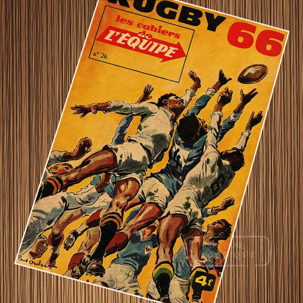 Vintage Rugby American Football Comics Poster Canvas Painting DIY Wall Paper Posters Home Decor Gift