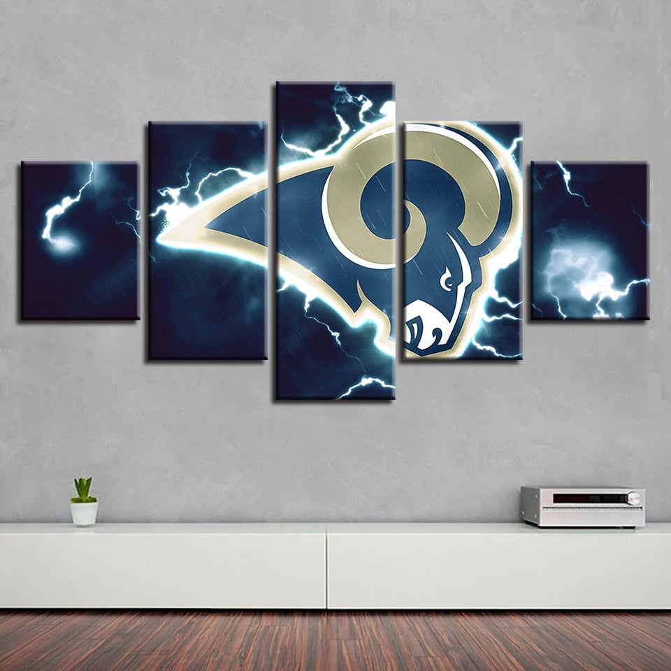 Hot Sale Home Decor Art Canvas Spray Vintage Poster 5 Pcs American Football Painting Prints Wall Modular Kitchen Pictures