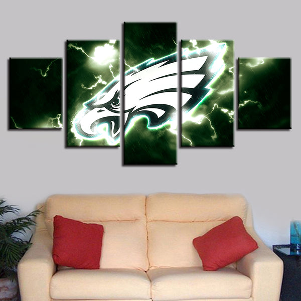 Home Decoration Canvas 5 Pcs American Football Brand New Spray Painting Prints Wall Pop Art Modular Pictures Poster Family