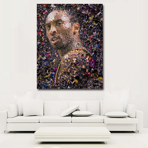 Hotsell Wall Art Kobe Bryant Basketball Star Portrait Painting Printed On Canvas Art Print Posters For Living Room Home Decor