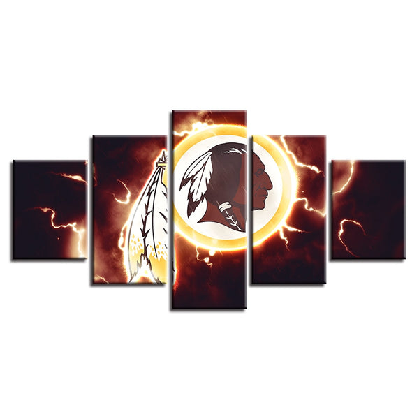 Spray Painting Prints Wall Art Office Modern HD 5 Pcs American Football Sport Canvas Home Decor Modular Pictures Pop Poster