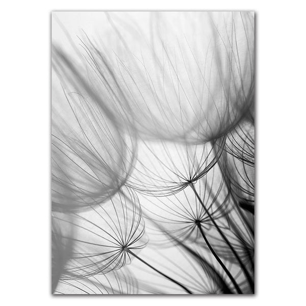 Nordic Dandelion Canvas Painting Posters And Prints Black White Loves Life Quotes Wall Art Pictures For Living Room Decoration
