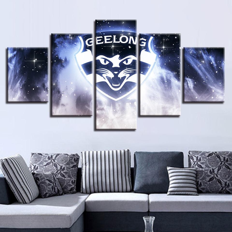 Modular Hang Pictures Canvas Sport 5 Pcs Australian Football Painting Prints Classic Wall Art Baby Room Decoration Home Poster