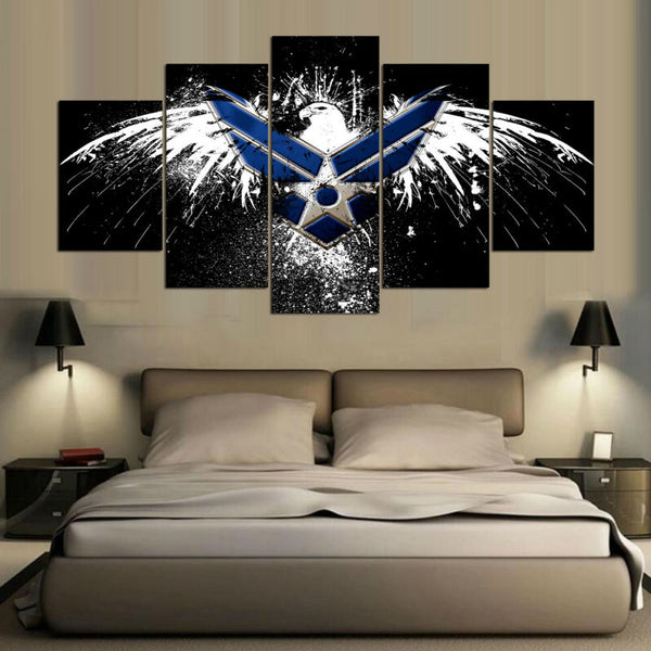 HD Printed 5 Panel Eagle Sport Flag Painting Abstract Art Wall Picture For Living Room Home Decoration Canvas Prints YGYT