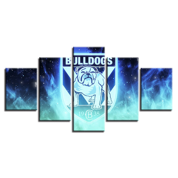 Canvas Spray Painting Fashion HD Modular Pictures Prints Home Wall Art Poster 5 Set Rugby League Sport Baby Room Decoration