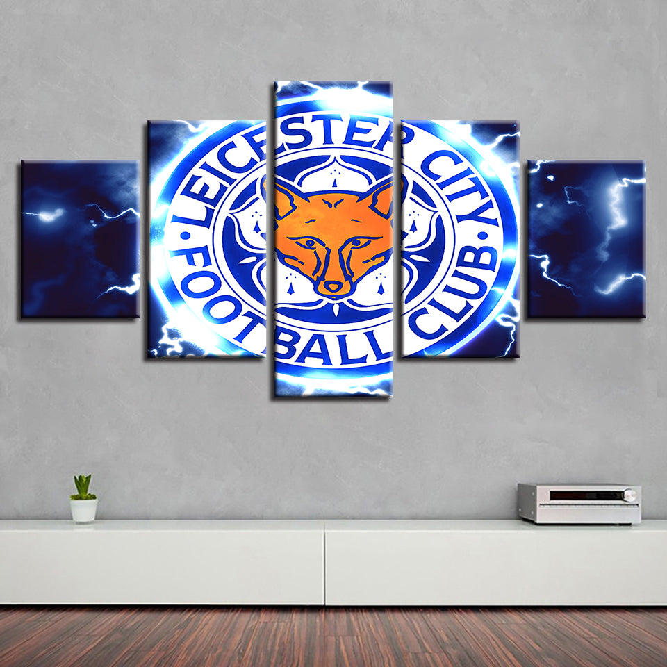 Hot Sale Canvas Painting Simple HD Frame Prints Home Decor Wall Art Modular Pictures Poster 5 Pcs Football Club Living Room