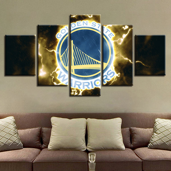 Modern Prints Home Decoration HD Wall 5 Piece Basketball Sport Canvas Painting Pop Art Modular Team Pictures Poster Bedroom