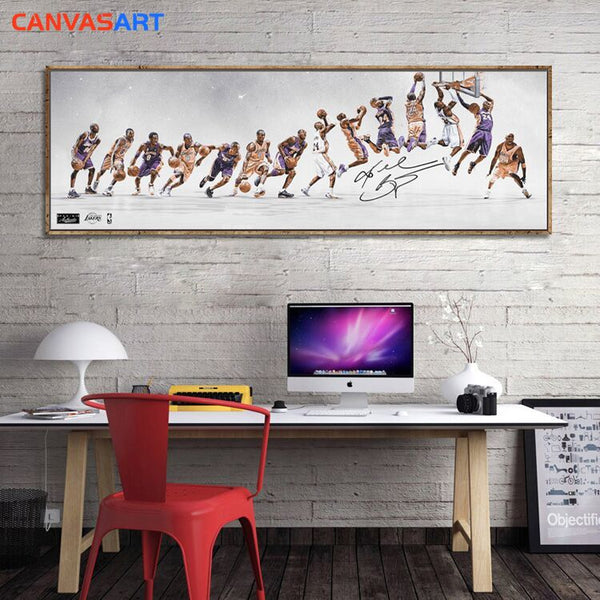 Canvas Art HD Parts Pictures Kobe Bryant Lakers Dynasty Road To Growth Wall Art Canvas Poster for Living Room Home Decor