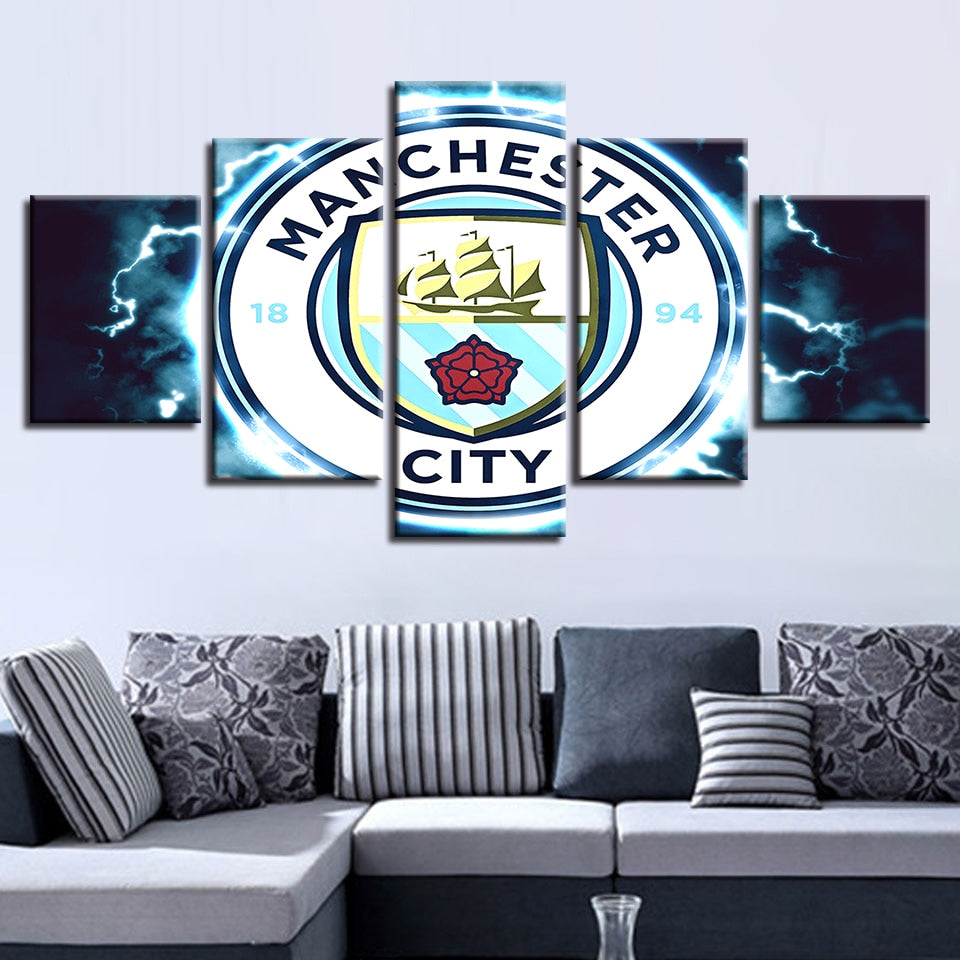 New Classics Wall Art Modular Pictures Hang Canvas 5 Piece Football Club Painting Prints Home Decor Sport Pop Poster Office