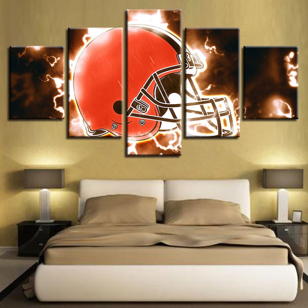 Modular Cuadros Pictures Poster Canvas 5 Set American Football House Painting Helmet Wall Pop Art Prints Home Decor Restaurant