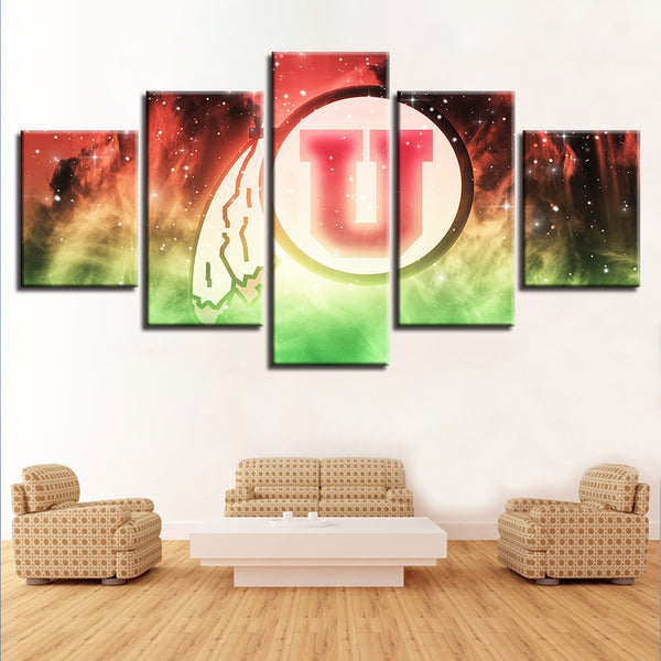 Prints Home Decoration Modular Pictures 5 Pcs University Poster Wall Art Canvas Painting Bedside Background Logo Modern For Gift