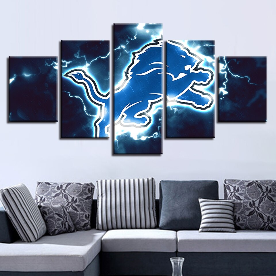 Cuadros Pictures Poster Sport Wall Pop Art Modular Canvas 5 Pieces American Football House Painting Prints Home Decor Restaurant