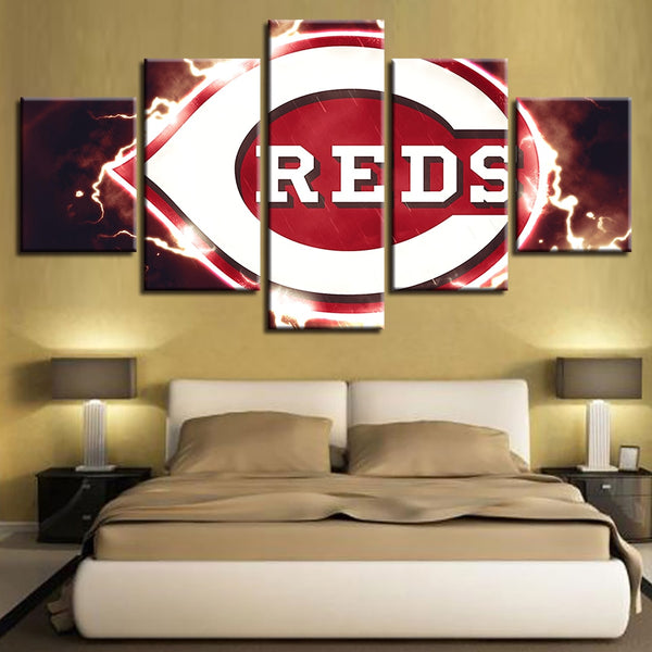 Wall Pop Art Canvas House 5 Pcs Baseball Modern Spray Frame Painting Prints Home Decor Modular Hang Sport Pictures Poster Hotel