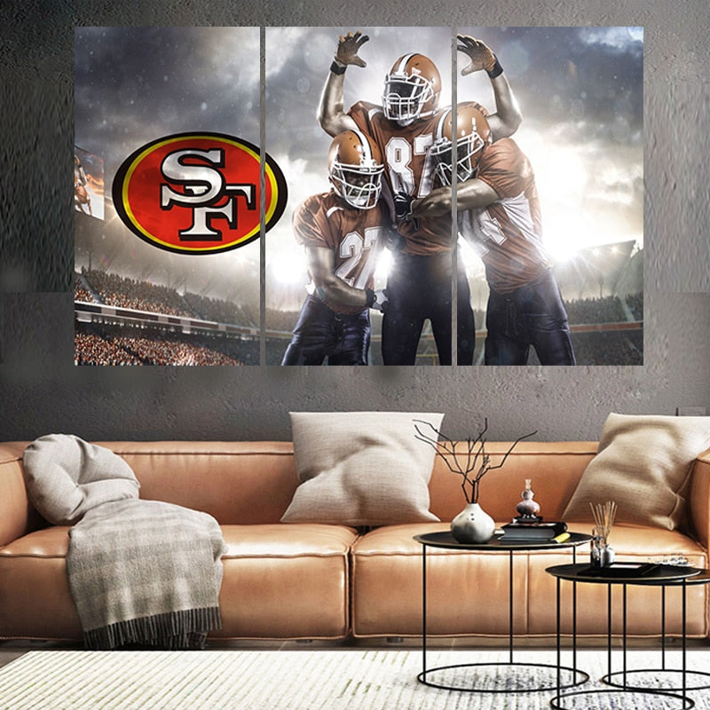Ball Sport Poster San Francisco Team Paintings Wall Home Decor 49ers Picture Canvas Painting Calligraphy For Living Room Bedroom
