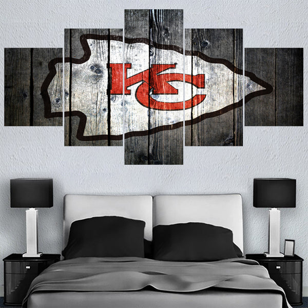 Many Logo Sport Ball Kansas City Chiefs Team Paintings  Home Decor Picture Canvas Painting Calligraphy For Living Room Bedroom