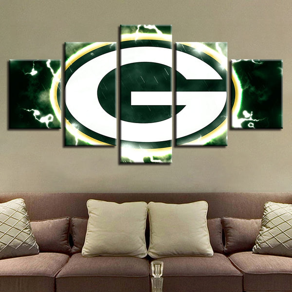 Painting Spray Modern Prints Home Wedding Decor Hang Sport Canvas Wall Art 5 Pieces American Football Modular Pictures Poster