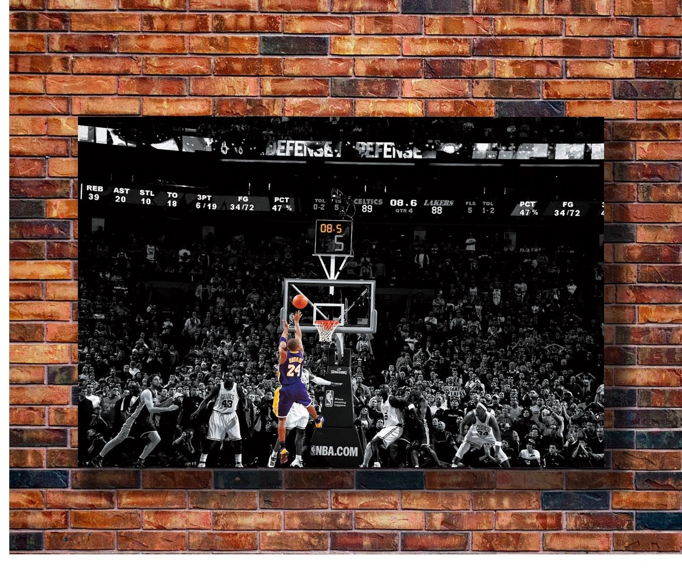 Q0237 Posters and Prints Kobe Bryant last Ball Top Super Basketball Star 24x36in Gift Art Poster Canvas Painting Home Decor