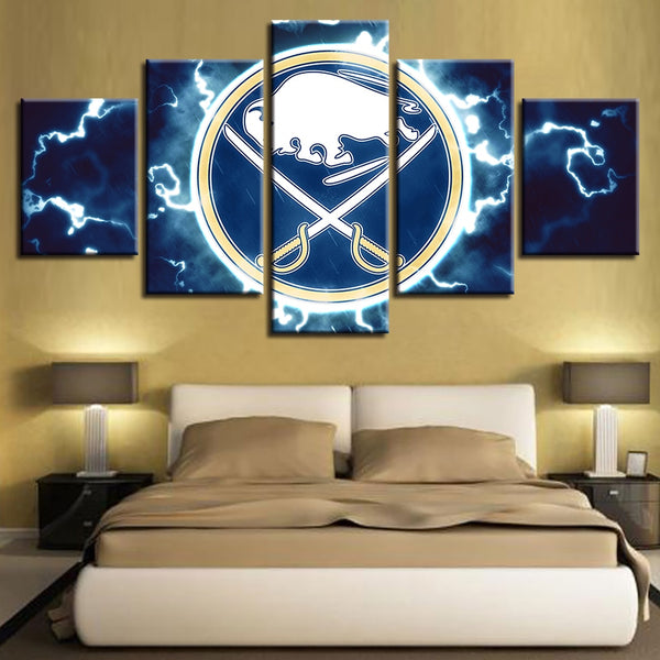 Wall Art Modular Pictures Painting Prints House Modern HD Brand New 5 Pieces Ice Hockey Sport Canvas Home Decoration Poster