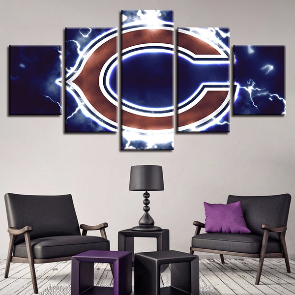 Art Canvas House Spray 5 Set American Football Sport Modern Wall Pop Frame Painting Prints Home Decor Hang Pictures Poster Hotel