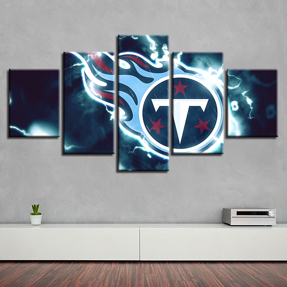 Modular Pictures Canvas House Frame Creative 5 Pcs American Football Painting Prints Home Decor Sport Wall Art Poster For Gift