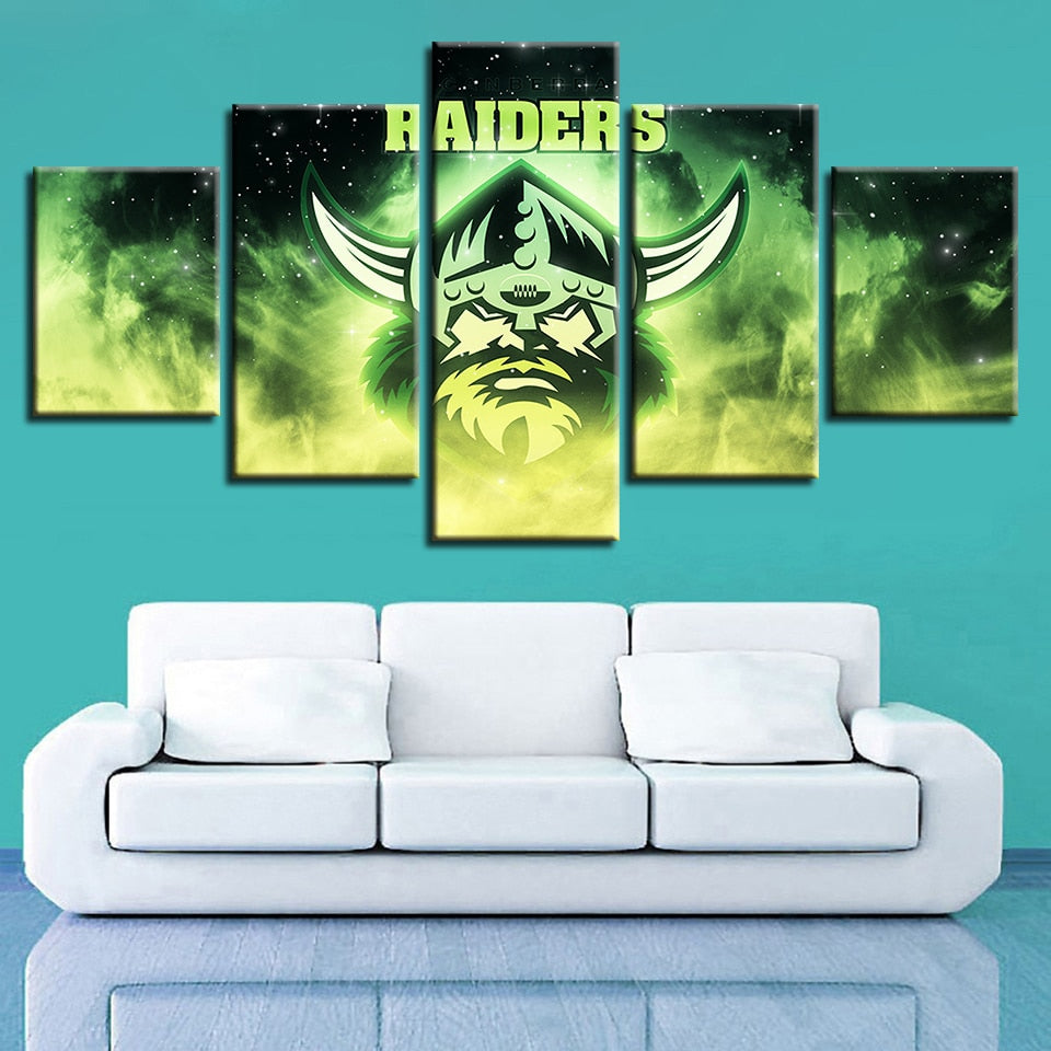 New Classics Home Decor Wall Pop Art 5 Pcs Australian Football Canvas Sport Painting Prints Modular Pictures Poster Bedroom