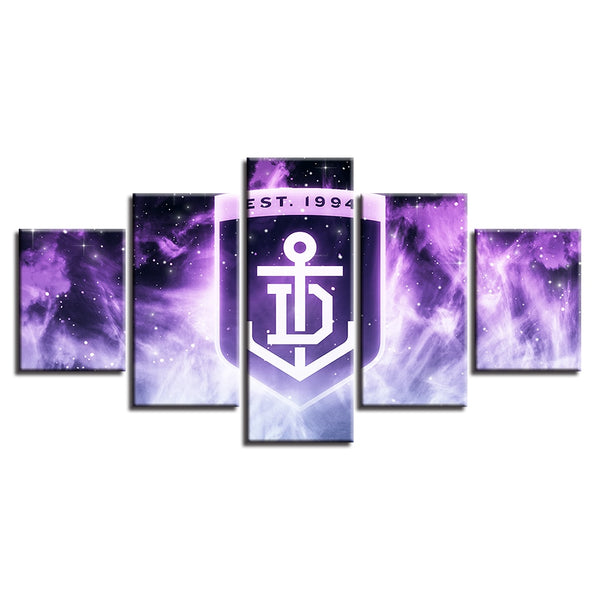 Canvas Painting Prints Home Decor Sport Wall Art 5 Pcs Australian Football Modular Hang Pictures Poster Drop Shipping Artwork